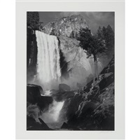 vernal fall, yosemite valley, california [circa 1948] by ansel adams
